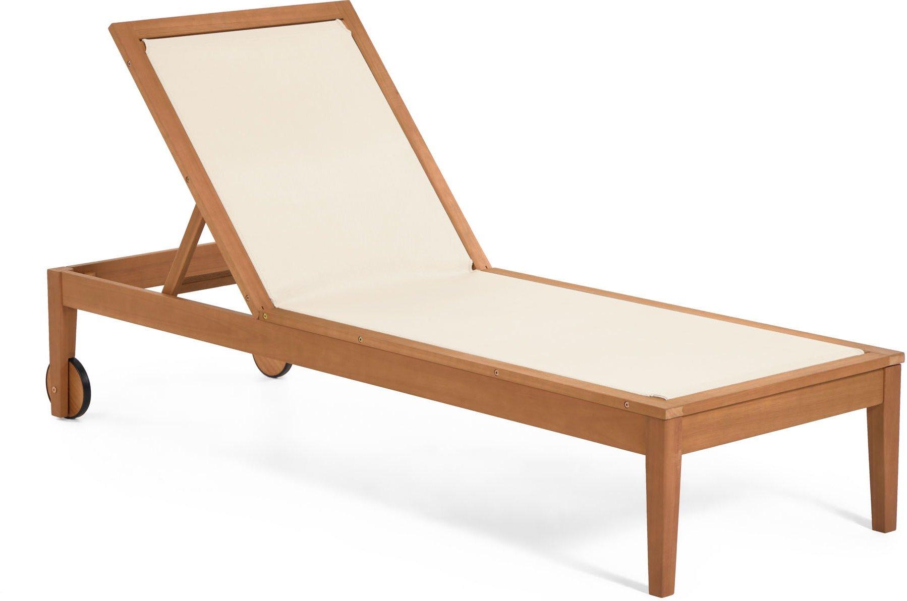 Køb Caterin, Udendørs liggestol by LaForma (H: 94 cm. B: 70 cm. L: 200 cm., Hvid)