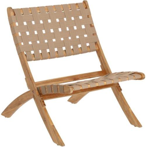 På billedet ser du variationen Chabeli, Udendørs lænestol fra brandet LaForma i en størrelse H: 75 cm. B: 60 cm. L: 73 cm. i farven Beige