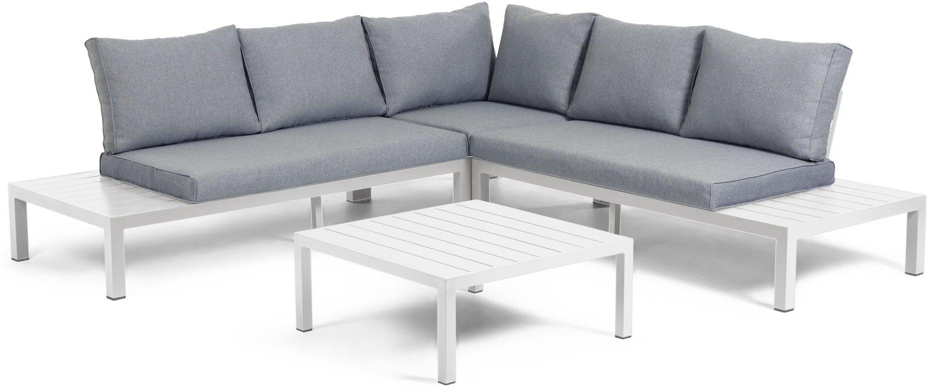 Køb Duka, Udendørs sofasæt by LaForma (H: 65 cm. B: 246 cm. L: 246 cm., Hvid)