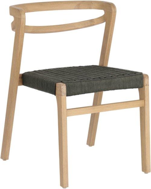På billedet ser du variationen Ezilda, Udendørs spisebordsstol fra brandet LaForma i en størrelse H: 74 cm. B: 51 cm. L: 55 cm. i farven Grøn