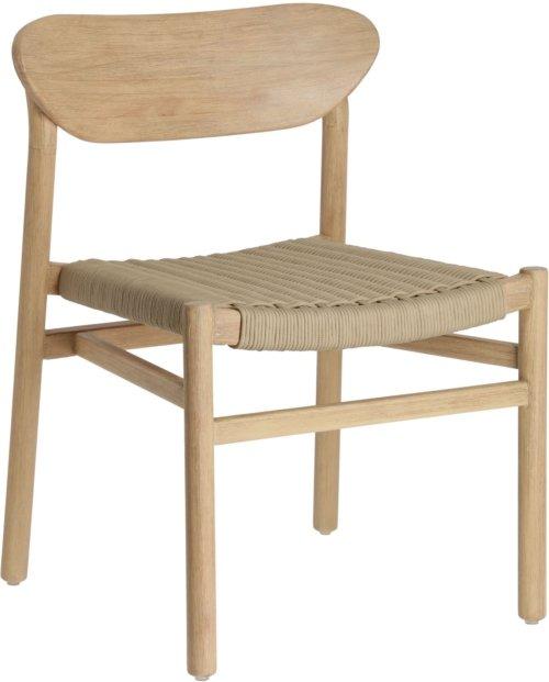 På billedet ser du variationen Galit, Spisebordsstol fra brandet LaForma i en størrelse H: 76 cm. B: 55 cm. L: 53 cm. i farven Beige