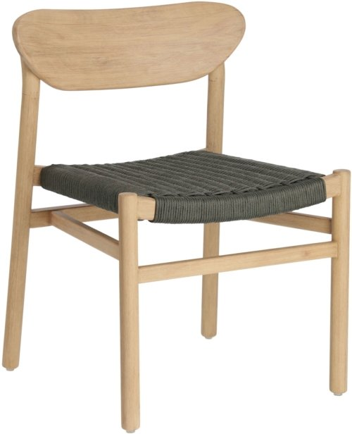 På billedet ser du variationen Galit, Spisebordsstol fra brandet LaForma i en størrelse H: 76 cm. B: 55 cm. L: 53 cm. i farven Grøn