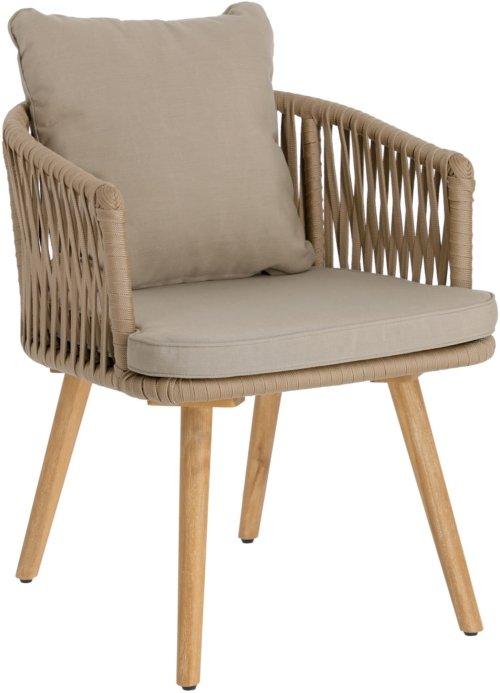 På billedet ser du variationen Hemilce, Udendørs spisebordsstol fra brandet LaForma i en størrelse H: 73 cm. B: 55 cm. L: 58 cm. i farven Beige