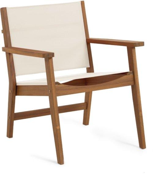 På billedet ser du variationen Hilda, Udendørs lænestol fra brandet LaForma i en størrelse H: 78 cm. B: 56 cm. L: 66 cm. i farven Natur