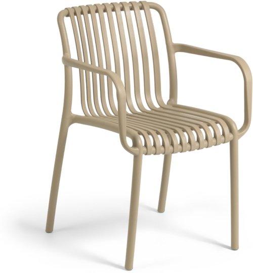 På billedet ser du variationen Isabellini, Udendørs spisebordsstol fra brandet LaForma i en størrelse H: 80 cm. B: 54 cm. L: 49 cm. i farven Beige