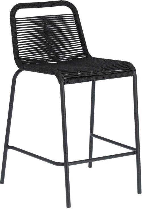 På billedet ser du variationen Lambton, Udendørs barstol fra brandet LaForma i en størrelse H: 88 cm. B: 48 cm. L: 55 cm. i farven Sort