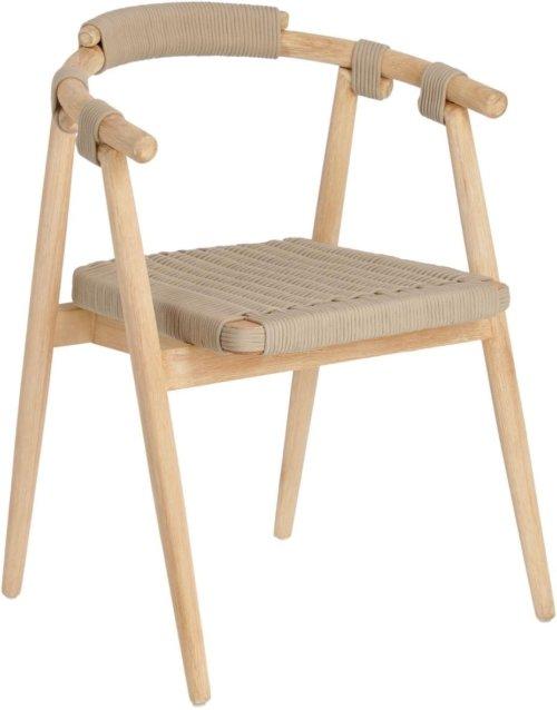 På billedet ser du variationen Majela, Udendørs spisebordsstol fra brandet LaForma i en størrelse H: 77 cm. B: 58 cm. L: 51 cm. i farven Beige