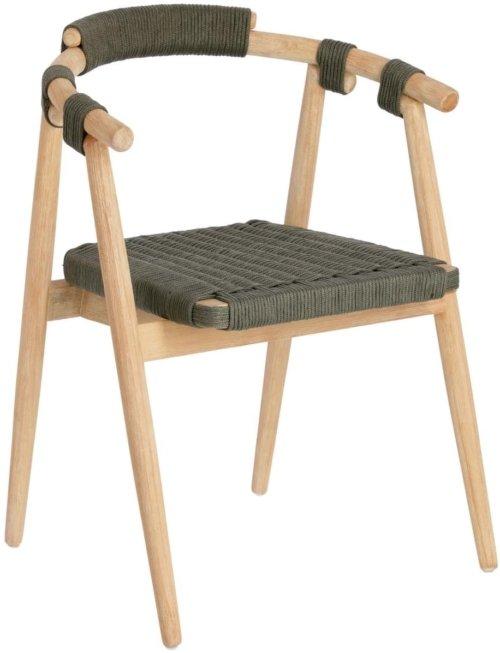 På billedet ser du variationen Majela, Udendørs spisebordsstol fra brandet LaForma i en størrelse H: 77 cm. B: 58 cm. L: 51 cm. i farven Grøn