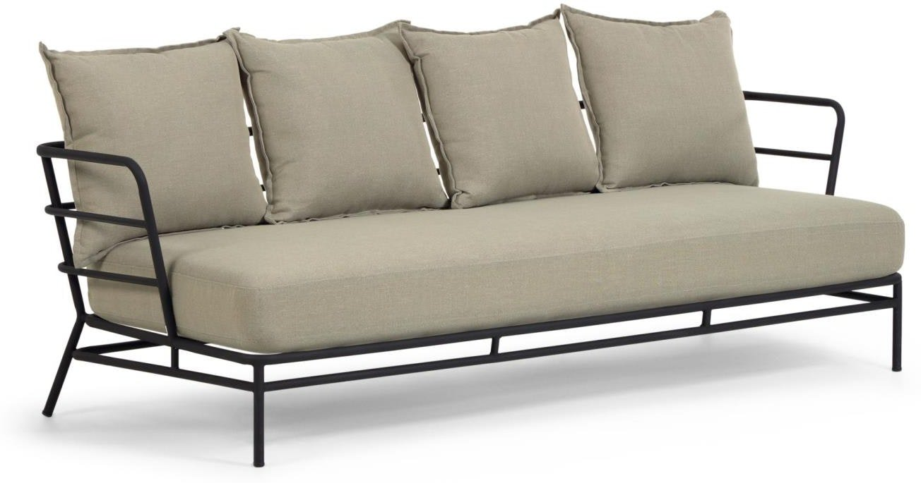 Mareluz, Udendørs 3-personers sofa by LaForma (H: 60 cm. B: 197 cm. L: 75 cm., Beige)