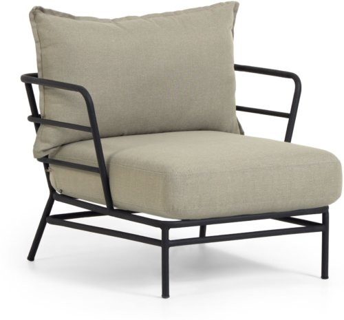 På billedet ser du variationen Mareluz, Udendørs lænestol fra brandet LaForma i en størrelse H: 60 cm. B: 80 cm. L: 76 cm. i farven Beige