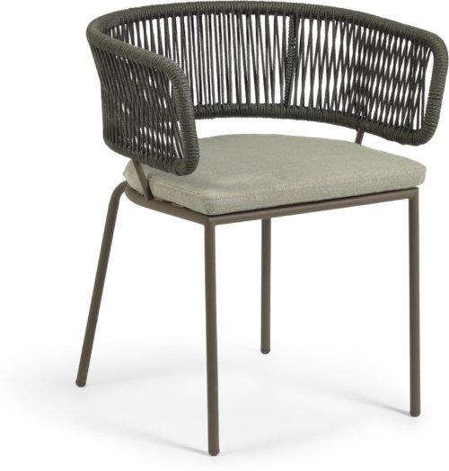 På billedet ser du variationen Nadin, Udendørs spisebordsstol fra brandet LaForma i en størrelse H: 73 cm. B: 58 cm. L: 47 cm. i farven Grøn