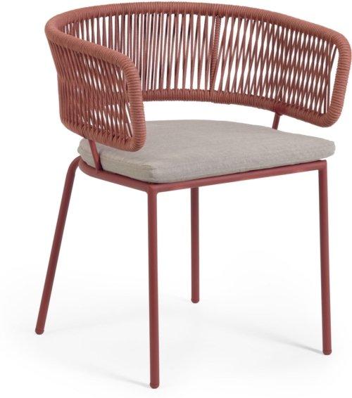 På billedet ser du variationen Nadin, Udendørs spisebordsstol fra brandet LaForma i en størrelse H: 73 cm. B: 58 cm. L: 47 cm. i farven Lyserød