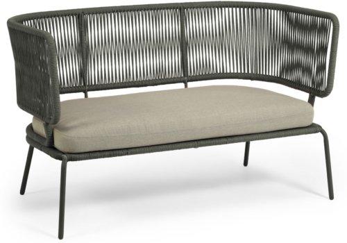 På billedet ser du variationen Nadin, Udendørs 2-personers sofa fra brandet LaForma i en størrelse H: 80 cm. B: 135 cm. L: 65 cm. i farven Grøn