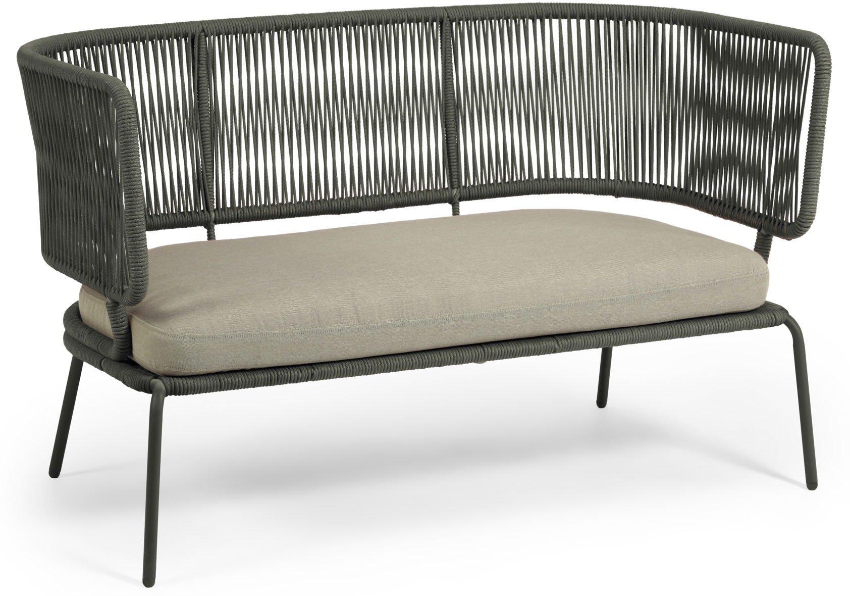 Nadin, Udendørs 2-personers sofa by LaForma (H: 80 cm. B: 135 cm. L: 65 cm., Grøn)