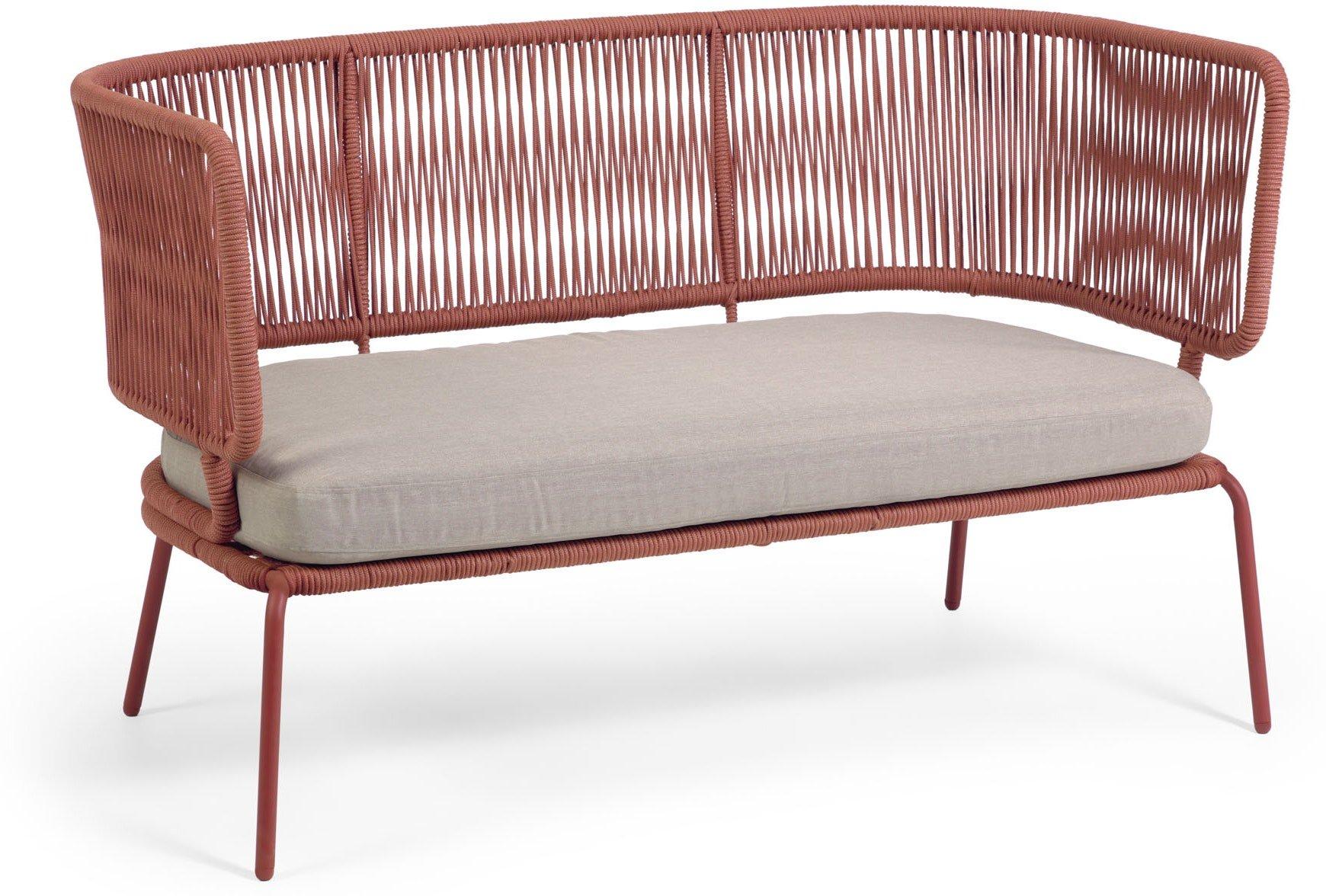 Nadin, Udendørs 2-personers sofa by LaForma (H: 80 cm. B: 135 cm. L: 65 cm., Lyserød)