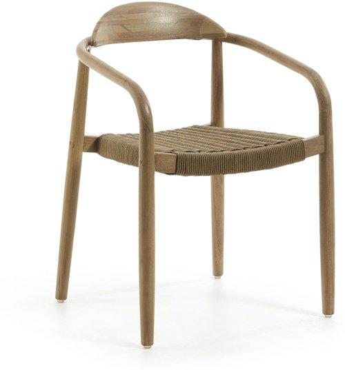 På billedet ser du variationen Nina, Udendørs spisebordsstol fra brandet LaForma i en størrelse H: 78 cm. B: 56 cm. L: 53 cm. i farven Brun/Natur