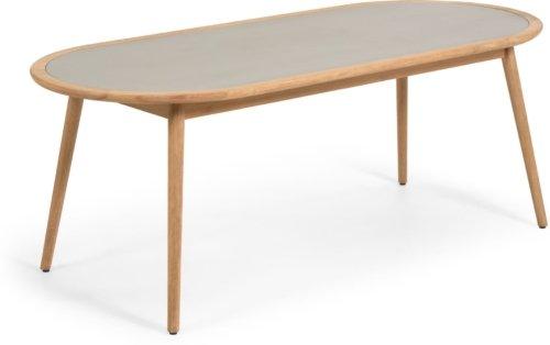 På billedet ser du variationen Nina, Spisebord fra brandet LaForma i en størrelse H: 75 cm. B: 200 cm. L: 90 cm. i farven Natur