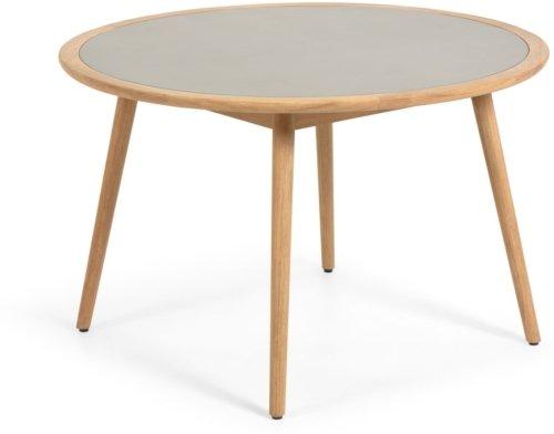 På billedet ser du variationen Nina, Udendørs spisebord fra brandet LaForma i en størrelse H: 75 cm. B: 120 cm. L: 120 cm. i farven Natur