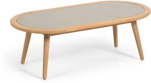 På billedet ser du variationen Nina, Udendørs sofabord fra brandet LaForma i en størrelse H: 40 cm. B: 120 cm. L: 60 cm. i farven Natur