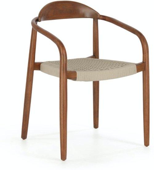 På billedet ser du variationen Nina, Udendørs spisebordsstol fra brandet LaForma i en størrelse H: 78 cm. B: 56 cm. L: 53 cm. i farven Natur/Beige