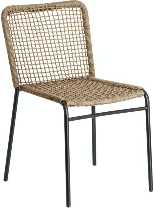 På billedet ser du variationen Pradesh, Spisebordsstol fra brandet LaForma i en størrelse H: 82 cm. B: 52 cm. L: 60 cm. i farven Grå/Sort