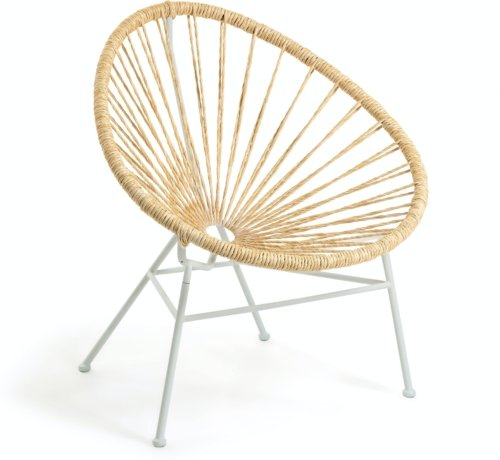 På billedet ser du variationen Samantha, Udendørs lænestol fra brandet LaForma i en størrelse H: 84 cm. B: 72 cm. L: 75 cm. i farven Natur/Hvid