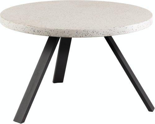 På billedet ser du variationen Shanelle, Udendørs spisebord fra brandet LaForma i en størrelse H: 76 cm. B: 120 cm. L: 120 cm. i farven Hvid Sort