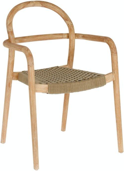 På billedet ser du variationen Sheryl, Udendørs spisebordsstol fra brandet LaForma i en størrelse H: 83 cm. B: 57 cm. L: 56 cm. i farven Natur/Beige