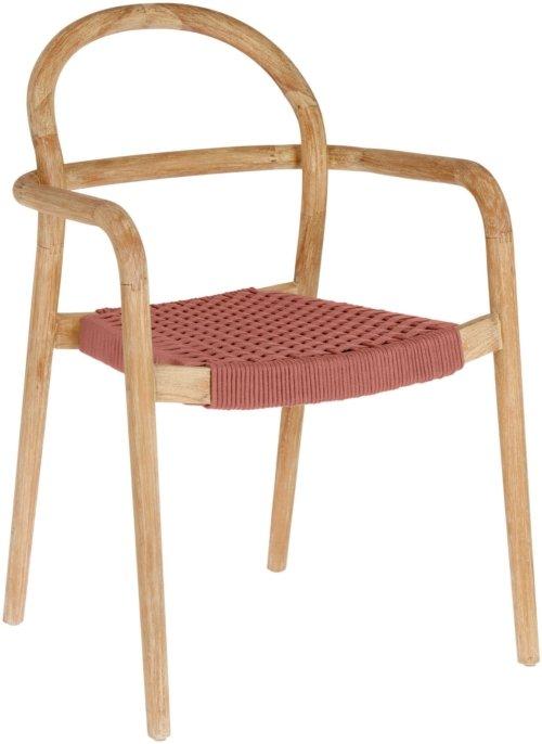 På billedet ser du variationen Sheryl, Udendørs spisebordsstol fra brandet LaForma i en størrelse H: 83 cm. B: 57 cm. L: 56 cm. i farven Lyserød