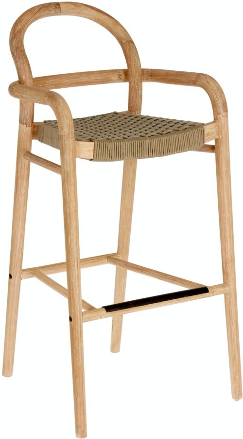 På billedet ser du variationen Sheryl, Udendørs barstol fra brandet LaForma i en størrelse H: 110 cm. B: 54 cm. L: 56 cm. i farven Natur/Beige