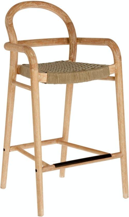 På billedet ser du variationen Sheryl, Udendørs barstol fra brandet LaForma i en størrelse H: 100 cm. B: 54 cm. L: 52 cm. i farven Natur/Beige