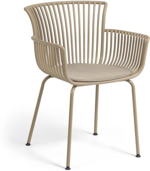 På billedet ser du variationen Surpika, Udendørs spisebordsstol fra brandet LaForma i en størrelse H: 80 cm. B: 59 cm. L: 55 cm. i farven Beige