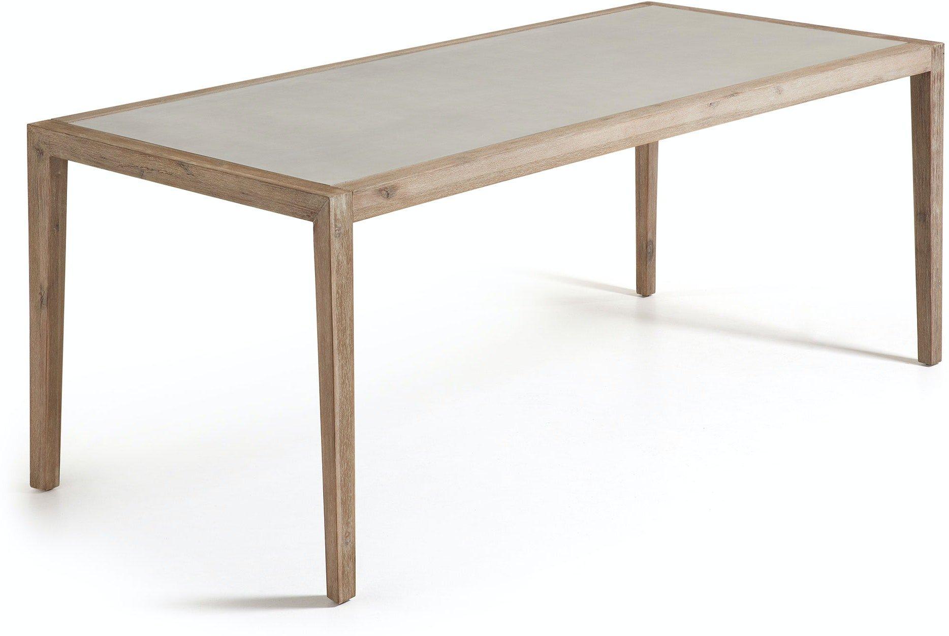 Køb Vetter, Udendørs spisebord by LaForma (H: 76 cm. B: 200 cm. L: 90 cm., Grå/Natur)