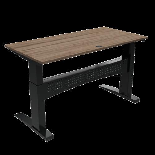 På billedet ser du variationen Elektrisk hæve-/sænkebord, 160x80 cm fra brandet ConSet i en størrelse H: 650 cm. B: 160 cm. L: 80 cm. i farven Valnød/Sort