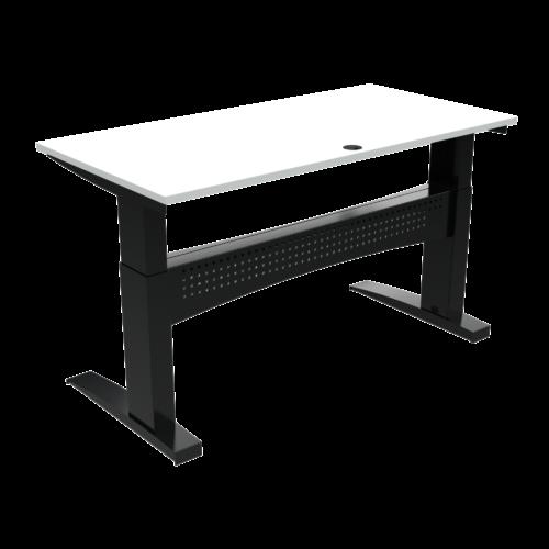 På billedet ser du variationen Elektrisk hæve-/sænkebord, 160x80 cm fra brandet ConSet i en størrelse H: 650 cm. B: 160 cm. L: 80 cm. i farven Hvid/Sort