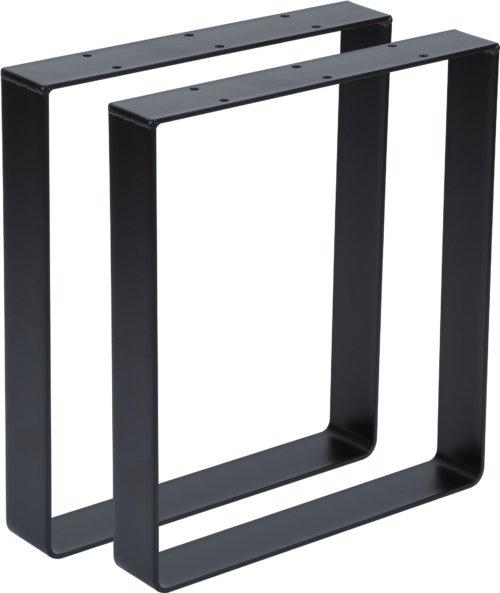 På billedet ser du variationen Walter, U-stel, Bordben til sofabord fra brandet Nielsen Design i en størrelse H: 40 cm. B: 35 cm. i farven Sort