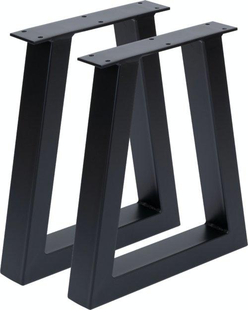På billedet ser du variationen Villum, A-stel, Bordben til sofabord/bænk fra brandet Nielsen Design i en størrelse H: 40 cm. B: 35 cm. i farven Sort