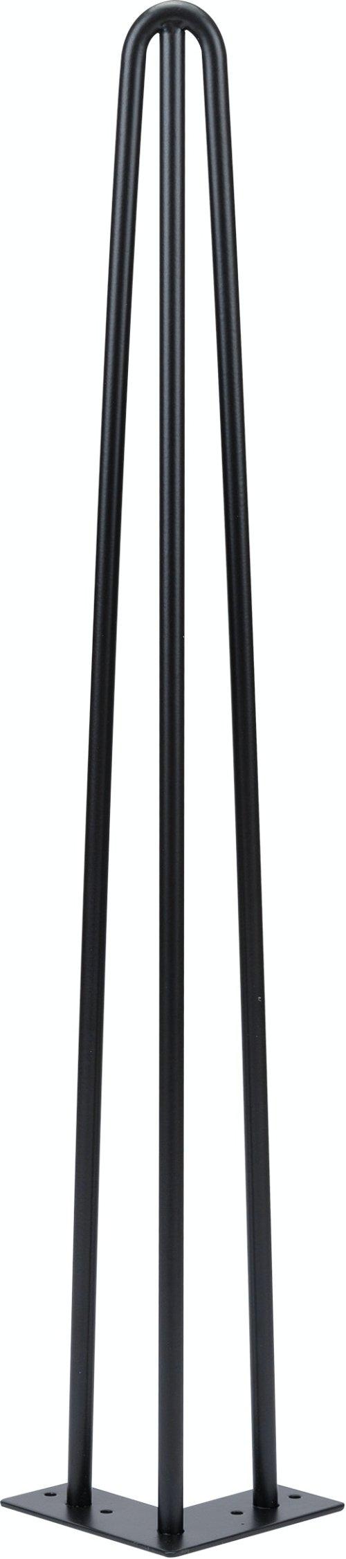 På billedet ser du variationen Elias, 3-rods hairpin-legs til plankebord, Ø1,2 cm. fra brandet Nielsen Design i en størrelse H: 71,5 cm. B: 7,5 cm. i farven Sort