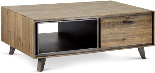 På billedet ser du variationen Derby, Sofabord m. udtræksskuffe, Akacietræ fra brandet Raymond & Hallmark i en størrelse H: 45 cm. B: 75 cm. L: 120 cm. i farven Brun