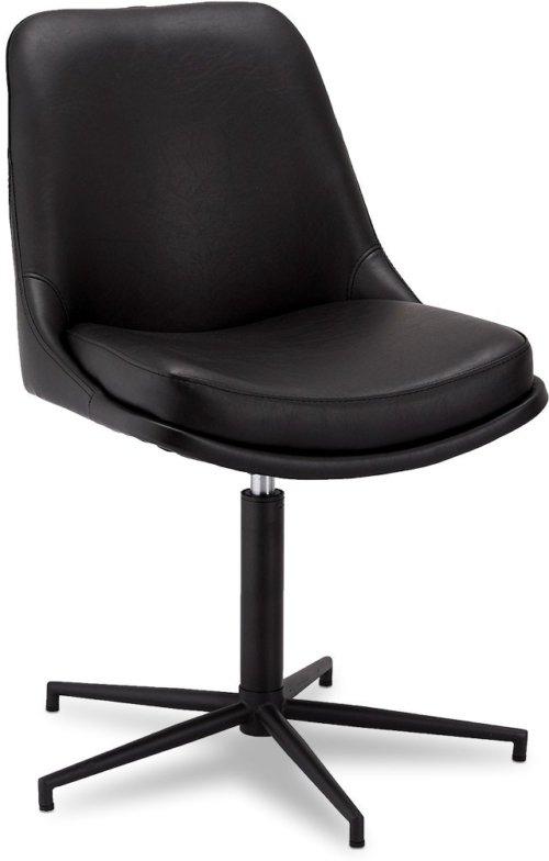 På billedet ser du et stemningsbillede (#8) fra Limerigg, Spisebordsstol, PU læder fra brandet Raymond & Hallmark i en størrelse H: 89 cm. B: 59 cm. L: 64 cm. i farven Sort
