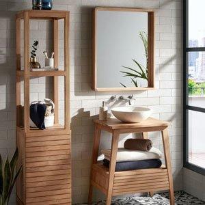 Møbler og interiør til badeværelset