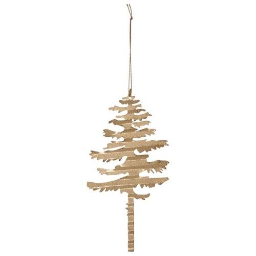 På billedet ser du variationen Julepynt, Tin plate tree fra brandet House Doctor i en størrelse B: 9 cm. L: 17,5 cm. i farven Messing
