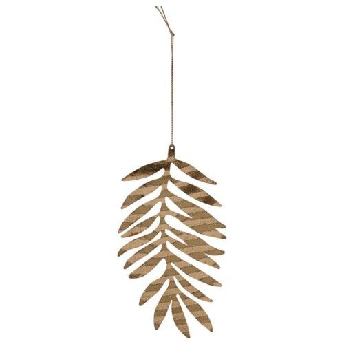 På billedet ser du variationen Julepynt, Tin plate leaf fra brandet House Doctor i en størrelse B: 9 cm. L: 15 cm. i farven Messing