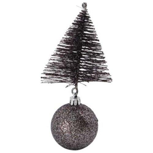 På billedet ser du variationen Julepynt, Tree & bell fra brandet House Doctor i en størrelse H: 15 cm. B: 8 cm. L: 8 cm. i farven Mahogni