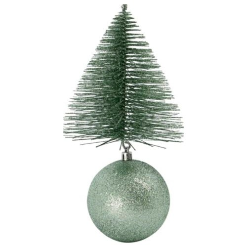På billedet ser du variationen Julepynt, Tree & bell fra brandet House Doctor i en størrelse H: 23 cm. B: 12 cm. L: 12 cm. i farven Grøn