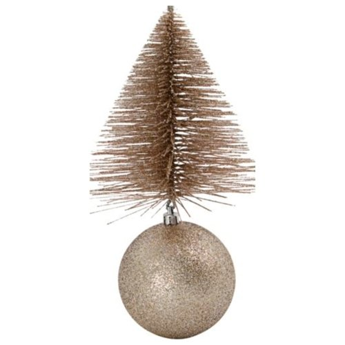 På billedet ser du variationen Julepynt, Tree & bell fra brandet House Doctor i en størrelse H: 23 cm. B: 12 cm. L: 12 cm. i farven Sand